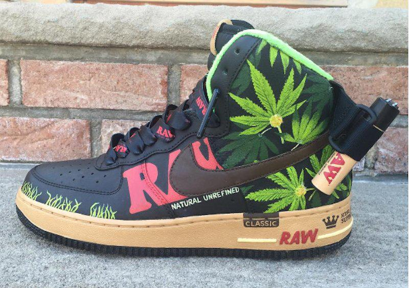 RAW Nike Air Force Ones 2 min